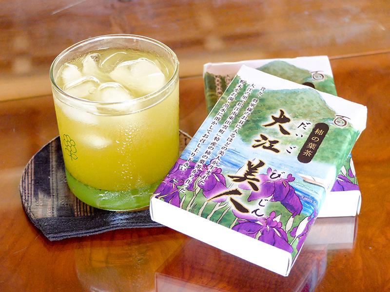 柿の葉茶「大江美人」